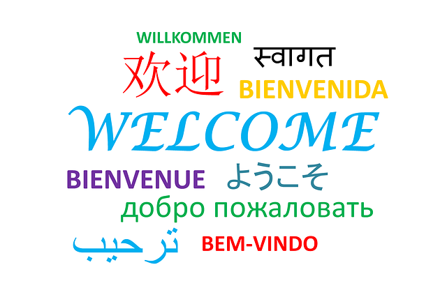 Welcome in different places