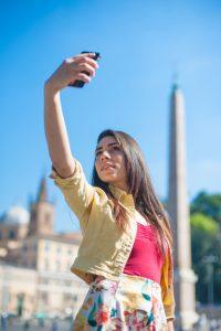 A tourist self portrait in Rome