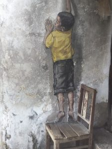 Boy on a Chair Penang Street Art