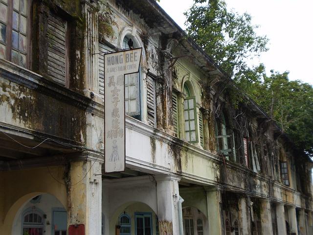 Old shophouses Melaka