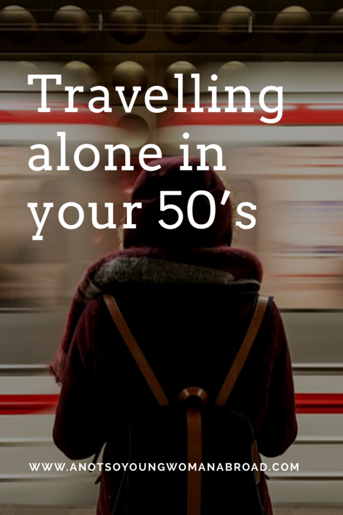 Travelling alone in your 50's