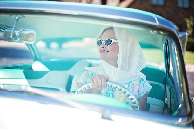Lady in car
