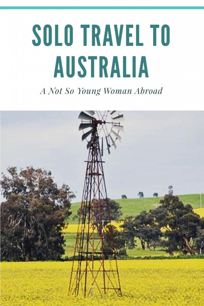 Windmill in Australian landscape