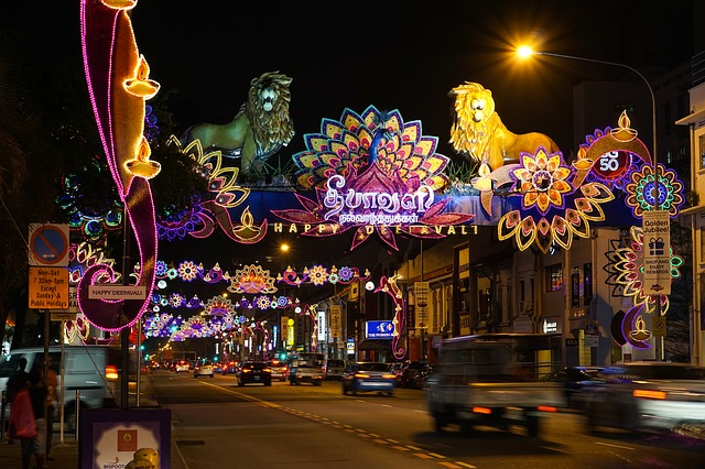 Little India at night Singapore