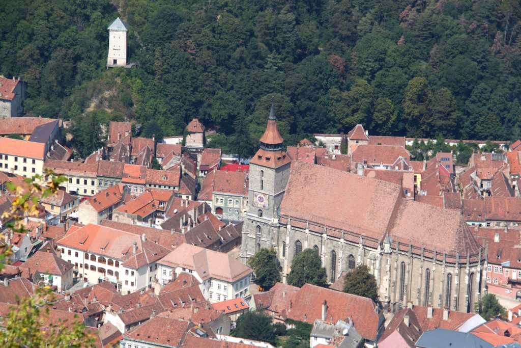 View of buildings in Brasov Romania